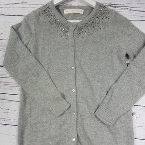 zaraknit Women Cardigan Color Gray Size L